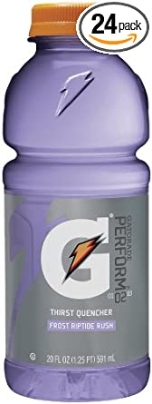 Gatorade Sports Drink, Frost Riptide Rush, 20-Ounce Wide MouthBottles (Pack of 24)