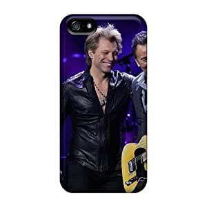Iphone 5/5s YMn14855AXVj Allow Personal Design Lifelike Bon Jovi Band Image Shock Absorbent Hard Phone Cover -AshleySimms
