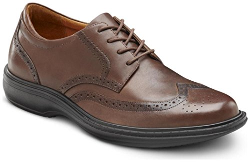 Dr. Comfort Wing Men's Therapeutic Diabetic Extra Depth Dress Shoe: Chestnut 14 X-Wide (3E/4E) Lace (Best Shoes For Diabetics)