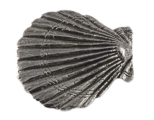 Scallop Shell Premium Pewter Lapel Pin, Brooch, Jewelry, A163PR