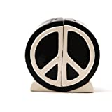 1 X Peace Sign Salt and Pepper Shaker Set: 1960's Icon Home Seasoning Device