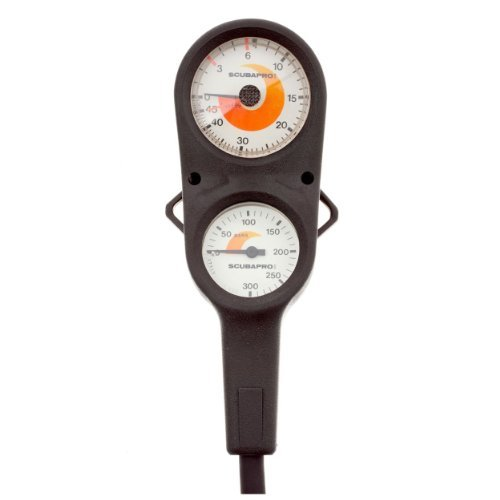 ScubaPro Metric Depth And Pressure Gauge Console