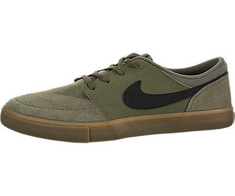 NIKE Men's SB Portmore II Solar Medium Olive/Black Skate Shoe 8 Men US