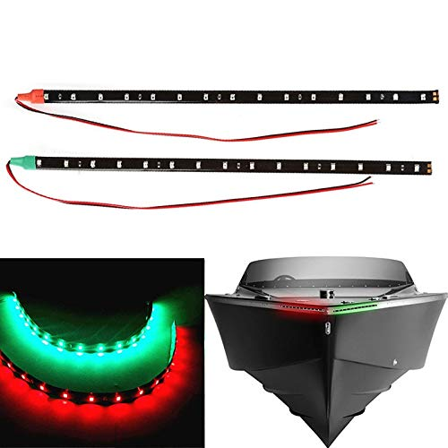 """2X Waterproof LED Strip Light 12/"""" Red/&Green For Bow Boat Marine Navigation Light"""