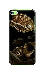LarryToliver iphone 5c Hard Case Background image fashion skull #4