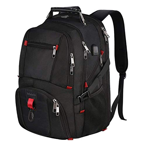 Laptop Backpack, Water Resistant Computer Rucksack with USB Charging Port...