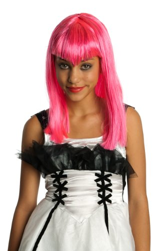 [Child's Pink Glitter Vamp Wig] (Halloween Costumes With Pink Hair)