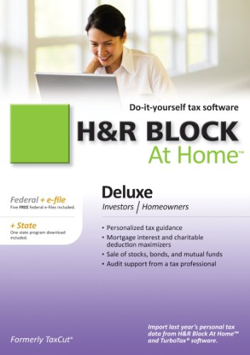 Price comparison product image H&R Block At Home 2010 Deluxe Federal + State + eFile [Download] [OLD VERSION]