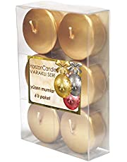Horizon Candle Unscented Round Floating Candle 6 pieces