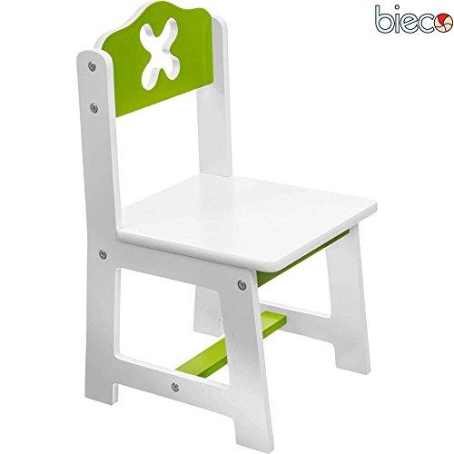 Kinderzimmermöbel weiß grün  Kinderstuhl aus Holz, farbig lackiert, weiss/grün, 26x50 cm ...