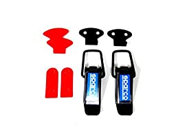 Sparco Style Car Small Boot Bonnet Side Bumper Toggle Fastener Catch Clips Black with 4.5cm (length) x 1.5cm (width)