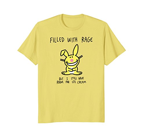 Mens It's Happy Bunny Filled with Rage 2XL Lemon