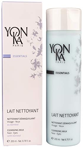 YON-KA LAIT NETTOYANT - Delicate Cleansing Milk for Dry or Mature Skin Types To Remove Eye and Face Makeup (6.6 Ounce / 200 Milliliter) ()