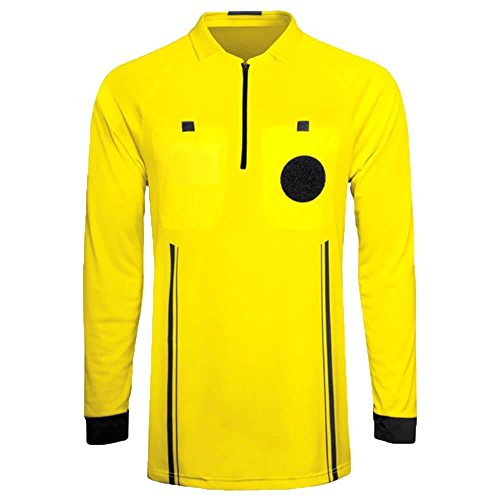 Referee Soccer Jersey Long Sleeves Yellow/Youth ()