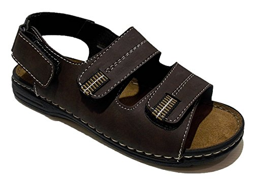 Patrizia Men's Shoes with Strap Brown UYi6nl
