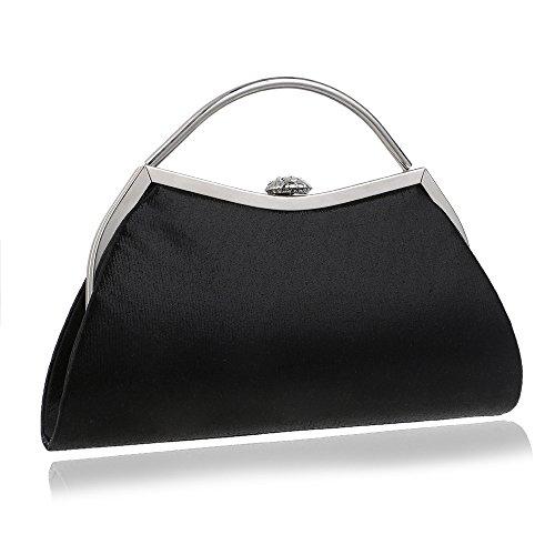 Evening bag rigida sera donna Borsa in frizione da Black da custodia frizione 1grwanB1q