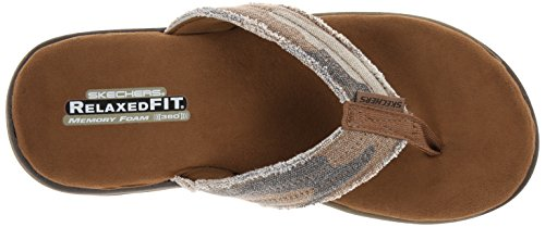 Skechers Men's USA Flip Flop Bosnia Brown BrBHnqw5