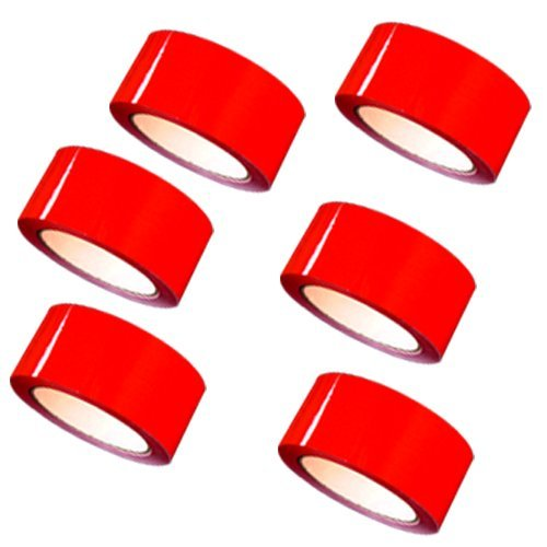 """Carton Sealing Tape 2"""" x 110 yds 2 mils, several colors, 6-Red"""
