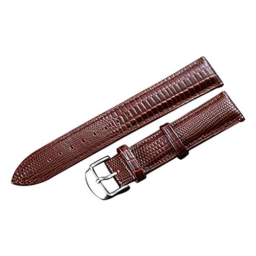 Embossed Lizard - SIFEIRUI-Quality Genuine Lizard-Embossed Leather Watch Band 2 Piece Brown Watch Strap Quick Release 24mm
