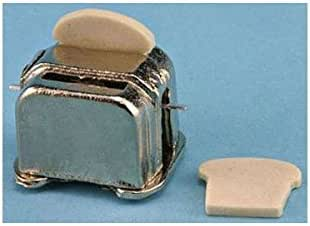 Town Square Miniatures Dollhouse Miniature 1:12 Scale Red Toaster Oven