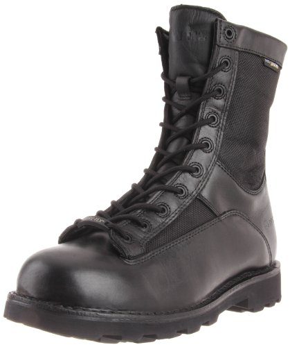 (Bates Men's Defender 8 Inch Lace To Toe Waterproof Waterproof Boot, Black, 11 M US)