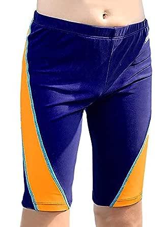 Aivtalk Boys Jammer Swimsuit Splice UPF 50 Drawstring Elastic Waistband Durable Swimshorts 10-12T Blue