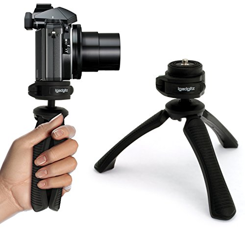 iGadgitz PT310 Mini Lightweight Table Top Stand Tripod and Grip Stabilizer...