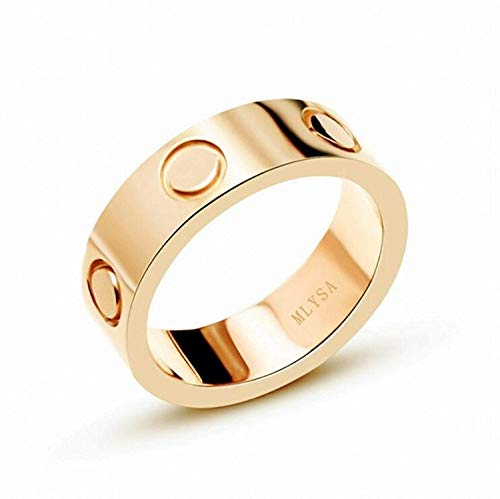 MLYSA Lifetime Love Rings for Women Men Couples Valentine's Day Promise Engagement Wedding Titanium Stainless Steel Band