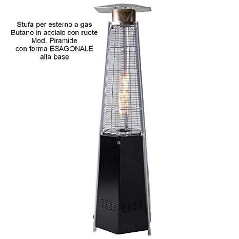 Aérea Estufa de gas Butano para exterior acero-Mod. pirámide: Amazon.es: Jardín