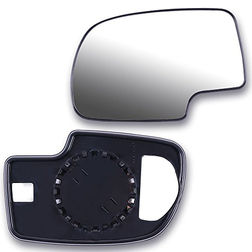 SCITOO Compatible fit for Set Exterior Mirror Replacement Glasses Lens Left+Right LH RH Side Manual 1999-2006 Chevrolet Silverado Suburban GMC Sierra Yukon Towing mirror Glass