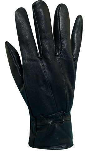 Dorfman Pacific Mens Leather Thinsulate Lined Water Repellent Winter Gloves Black Large / X-Large