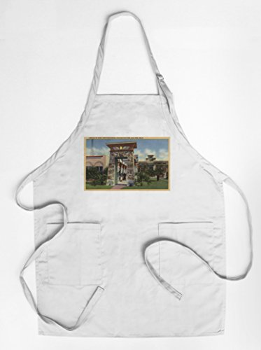 Replica of Egyptian Shrine, Rosicrucian Park (Quality Cotton/Polyester Chef's Apron) - Egyptian Shrine