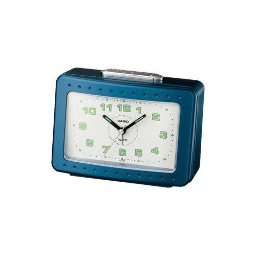 CASIO 10503 TQ-329-2DF - Reloj Despertador analógico Azul: Amazon.es: Relojes
