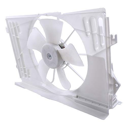 (OCPTY Replacement Radiator/Condenser Cooling Fan Assembly for Pontiac Vibe Toyota Corolla/Matrix)