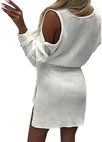 DEELIN Vestido Mujer Invierno Casual Fiesta señoras Pullover ...