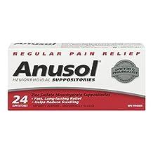 Anusol Hemorrhoidal Suppositories Regular Pain Relief