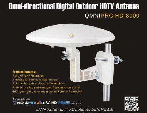 Lava HD-8000 OmniPro Version Omni-Directional HDTV Antenna: