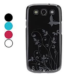 LZX Dancing Butterflies Pattern Hard Case for Samsung Galaxy S3 I9300 (Assorted Colors) , Green