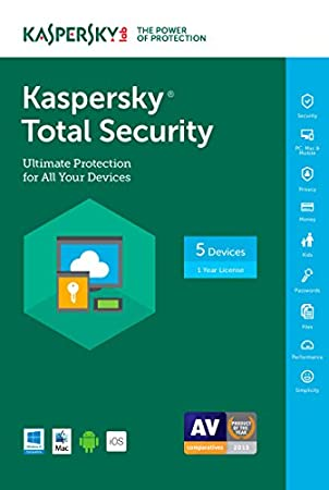 Kaspersky Total Security 2017 | 5 Device | 1 Year | Download [Online Code]