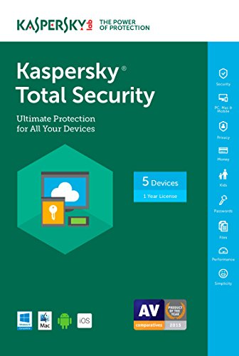 Kaspersky Total Security 2017 | 5 Device | 1 Year | Download [Online Code] by Kaspersky