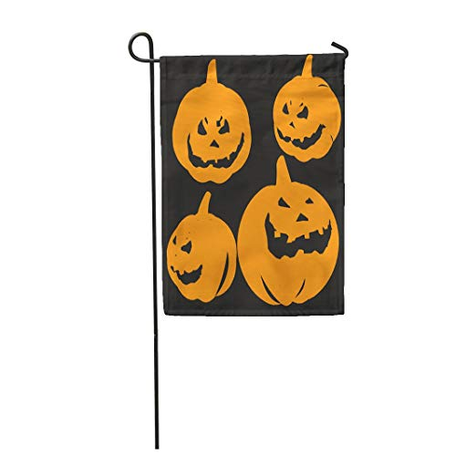 Tarolo Decoration Flag Jack Pumpkin Halloween Lantern Candle Carving Creepy Cutout Thick Fabric Double Sided Home Garden Flag 12