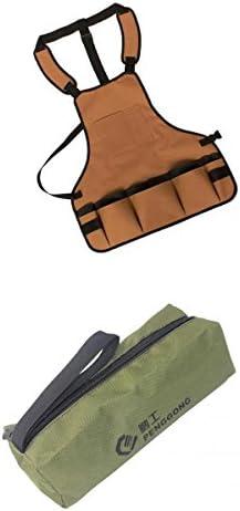 ハードウェアツールストレージバッグキャリアケースオックスフォードハンディジップポーチハンドバッグ屋外屋内修理部品ポケットr +ツールエプロン