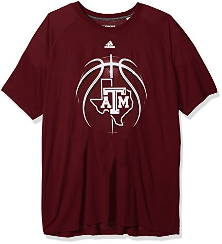 adidas NCAA Texas A&M Aggies Mens Light Ball Ultimate S/Teelight Ball Ultimate S/Tee, Maroon, Large