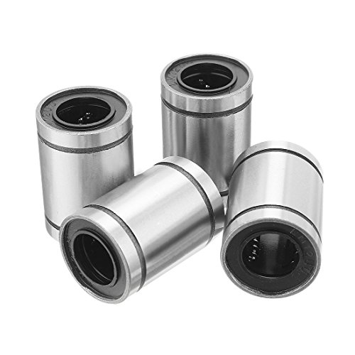 uxcell 4pcs LM12UU 12x21x30mm Double Side Rubber Seal Linear Motion Ball Bearing Bushing