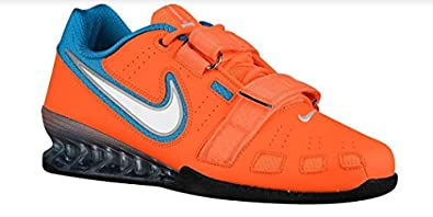 Nike Men's Romaelos II Powerlifting Shoes - Total Orange/White/Blue Lagoon