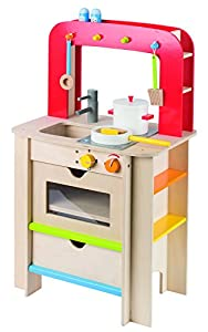 goki wooden childrens play kitchen with accessories