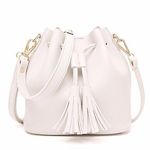 2018 estimadas borla bolso del bolso de hombro casual,Gray Blanco