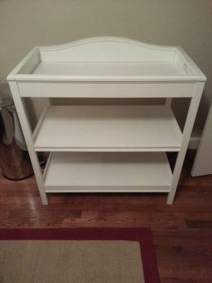 Just One Year Changing Table (White Finish)