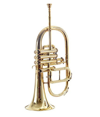 Moonflag FLUGEL HORN 4 VALVE Bb PITCH BRASS WITH FREE HARD CASE + MP + TUNED by NASIR ALI (Image #3)