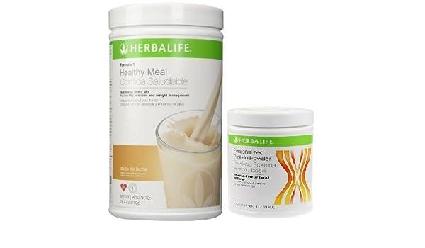 Herbalife fórmula 1 Shake mix-dulce de leche (750g) + Fórmula 2 personalizado para batidos de proteínas (ppp) -360g unflavoured.: Amazon.es: Hogar